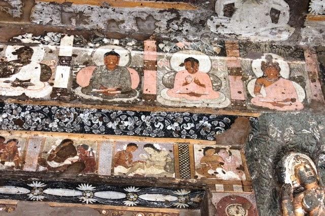 綺麗に保存されている仏教の壁画