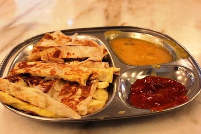 ローティ・チャナイ。インド系の料理だ。