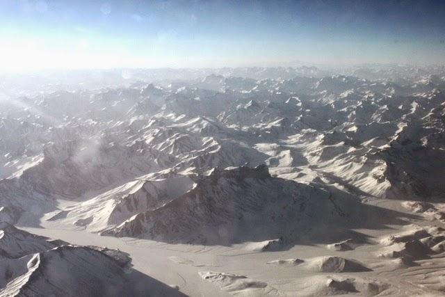 ヒマラヤ山脈上空
