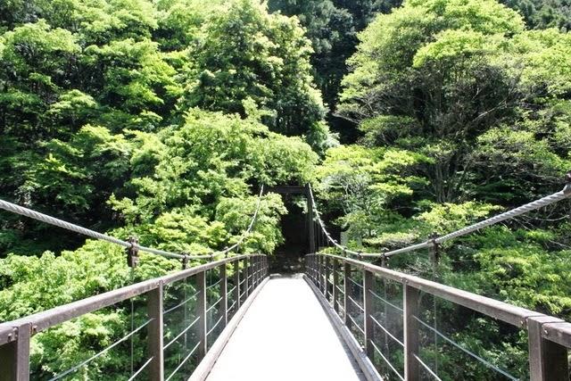高~い鳩ノ巣吊り橋