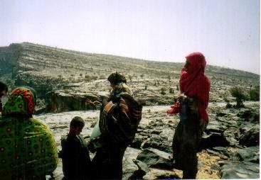 山岳地帯に住む遊牧民の女性