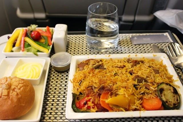 サウディア 機内食