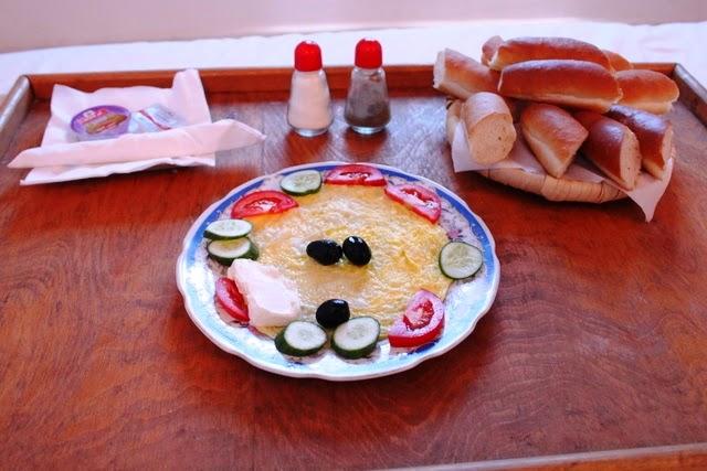 ゲストハウスの朝食