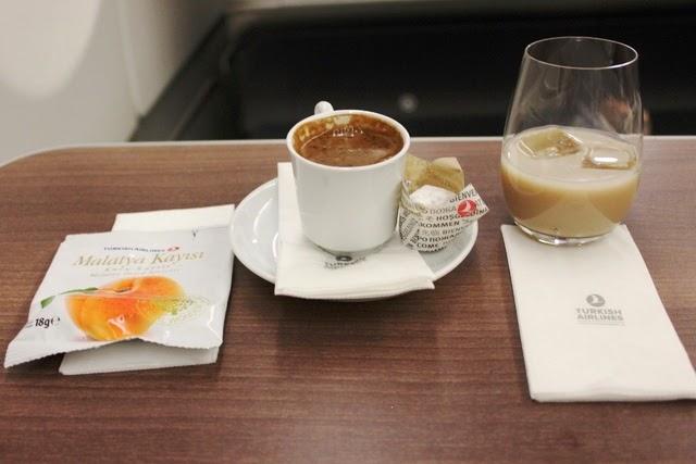 ターキッシュ・コーヒーとベイリーズ、そして杏のドライフルーツ