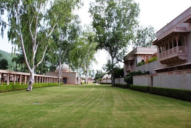 部屋の前の庭