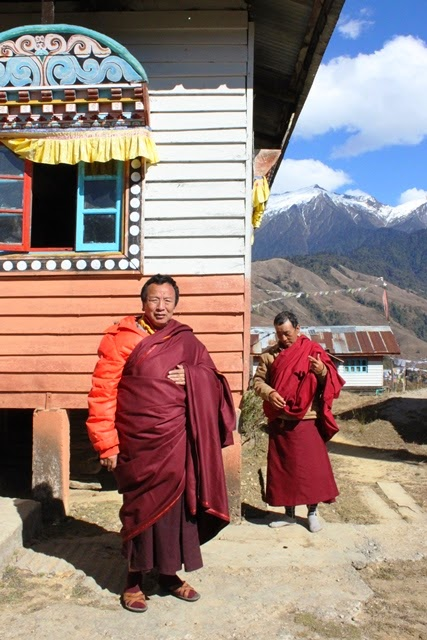 ゴンパの僧侶