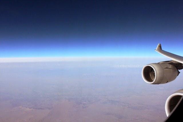 タクラマカン砂漠上空