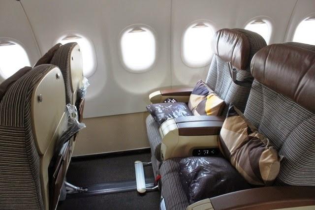 エティハド A320 ビジネスクラス