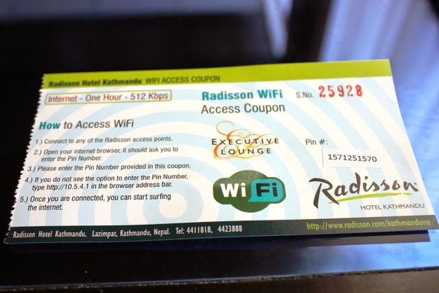 WiFiアクセス券