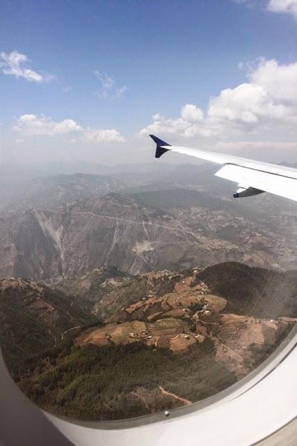 ネパール フライト 景色