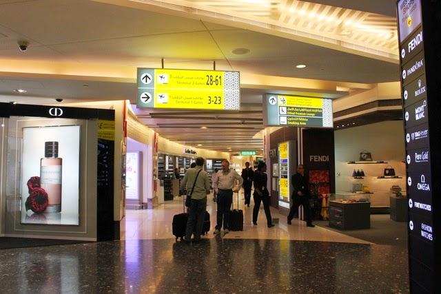 アブダビ空港のトランジットエリア