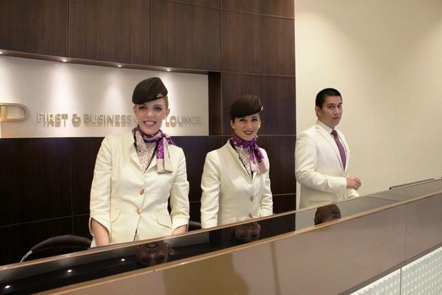 エティハド航空 ビジネスクラス ラウンジ アブダビ