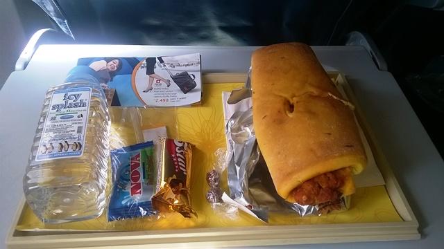 ジェットエアウェイズ 国内線 サンドイッチ