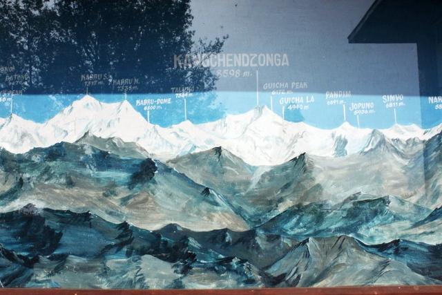 エルギンから眺めるカンチェンジュンガとヒマラヤの高峰