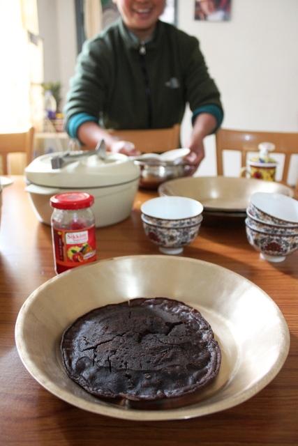 粟のパンケーキ