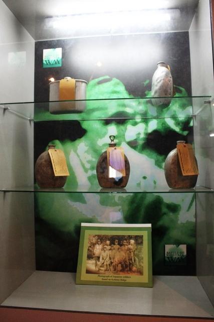 日本兵が残していったものの展示物