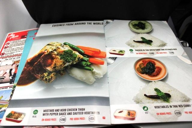 エアアジア機内食メニュー