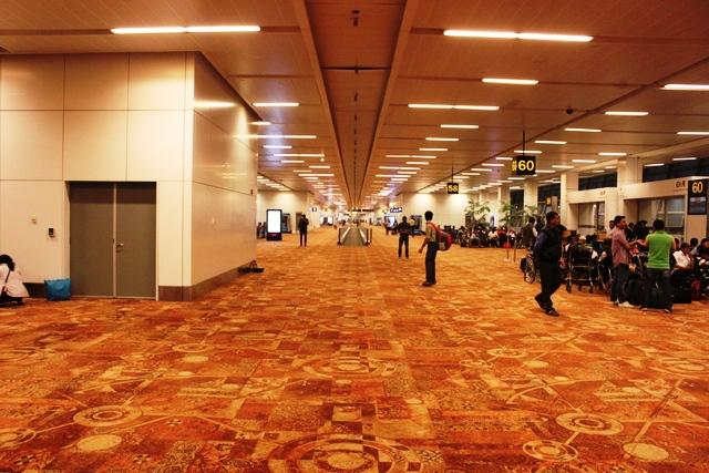 デリー空港第3ターミナルの端
