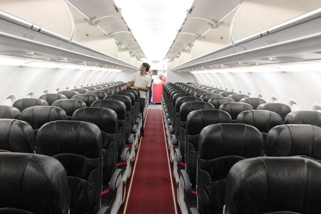 エアアジア機内後部