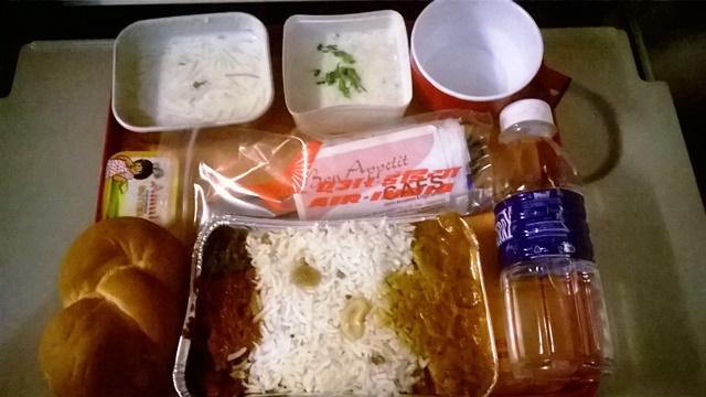 エアインディアの夕食