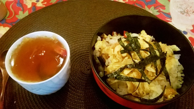 茶碗蒸しと五目寿司