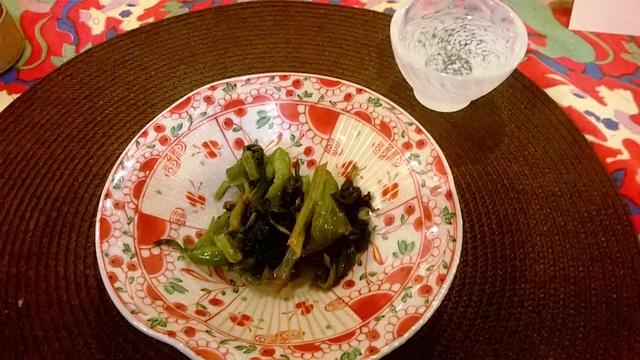 青菜とピーマンの中華風炒め