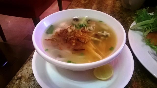マリオット・ホワイトフィールドのスープ麺