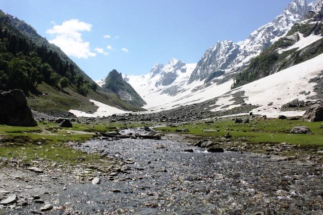 カシミール 氷河 観光:タジワス氷河