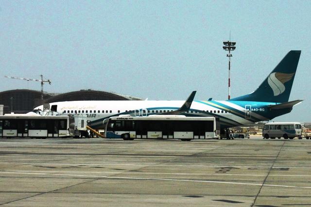 乗ってきたオマーンエアの機体