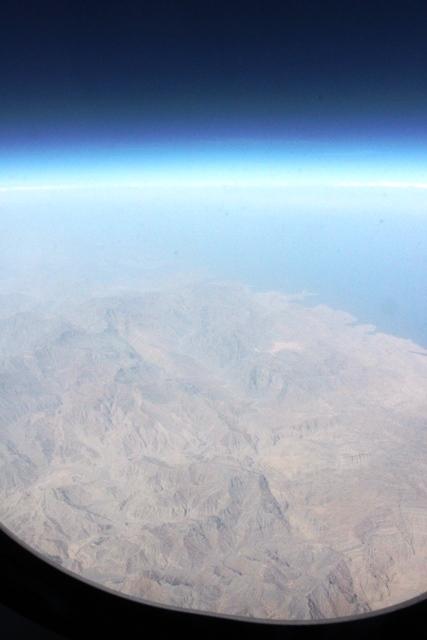 ムサンダム半島上空