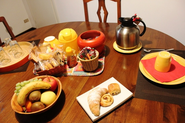 朝食の並び