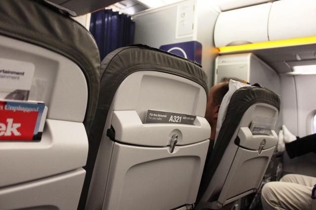 シートから眺める機内
