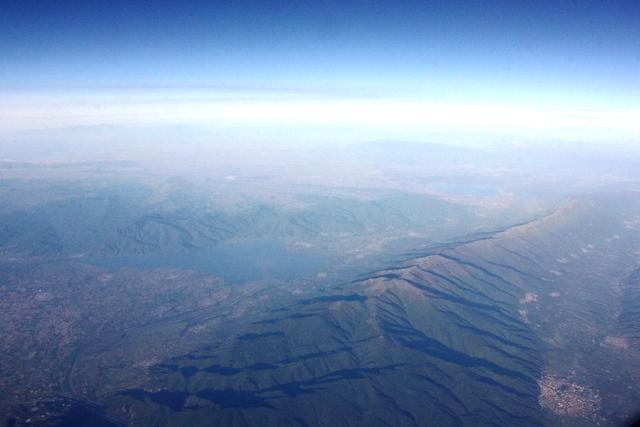ギリシャ上空