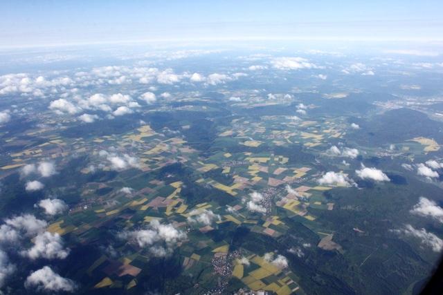 ドイツ上空