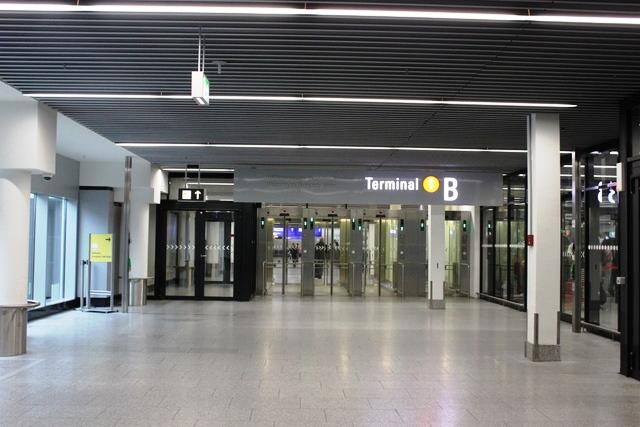 フランクフルト空港到着エリア