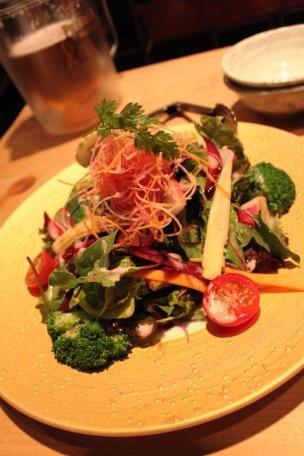 旬菜サラダ(塩ドレッシングで)