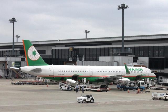 台湾のエバー航空A321機材