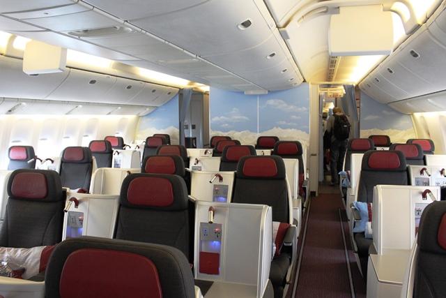 オーストリア航空 ビジネスクラス 搭乗記:オーストリア航空ビジネスクラス機内