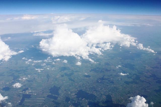 ポーランド上空