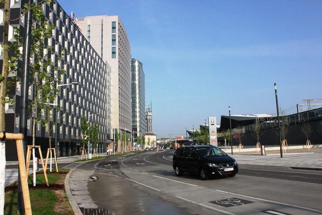 オーストリア ドイツ 比較:ウィーン中央駅周辺