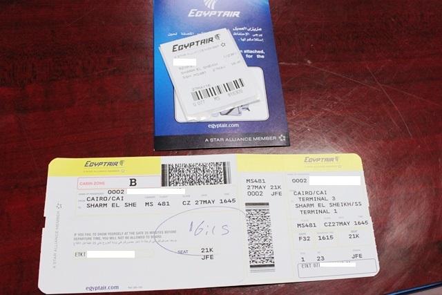 搭乗券とラッゲージタグ