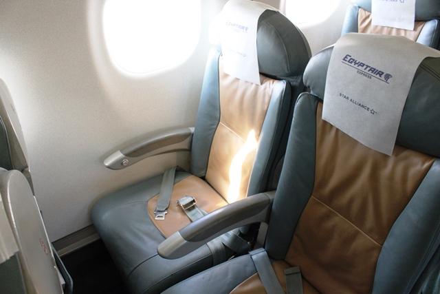 エジプト航空 国内線 ビジネスクラス:ビジネスクラスシート