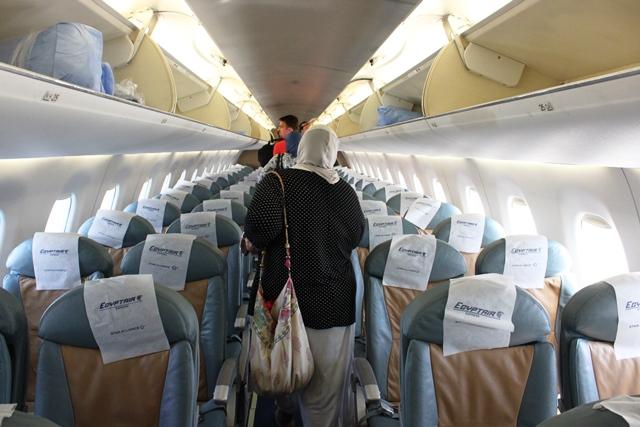 エジプト航空 E170:機内