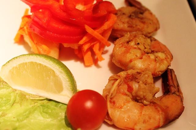 プリプリの海老の前菜