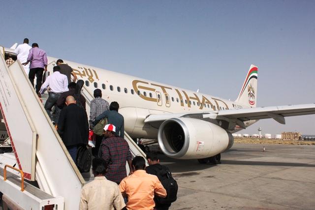 エティハド航空A320-200機