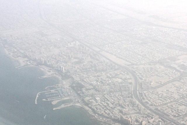 クウェート上空