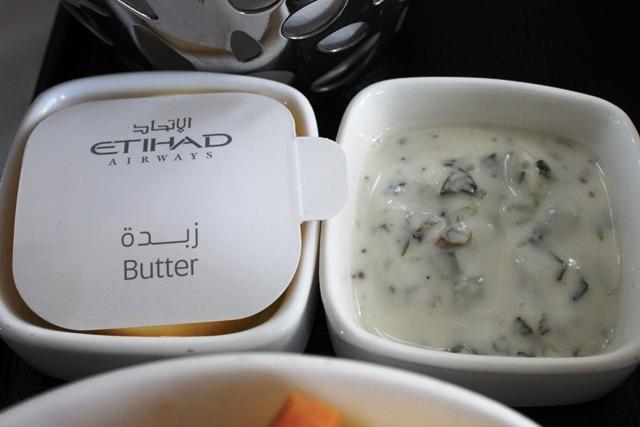 バターとヨーグルトソース