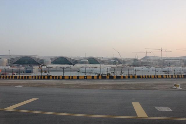 建設中の新ターミナル