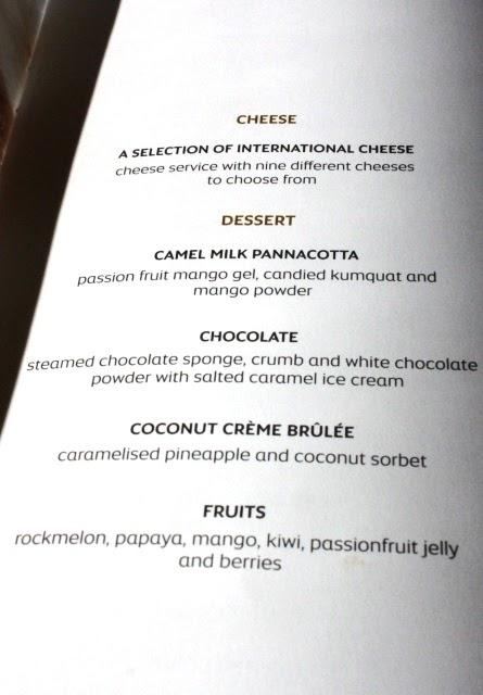 チーズとデザート