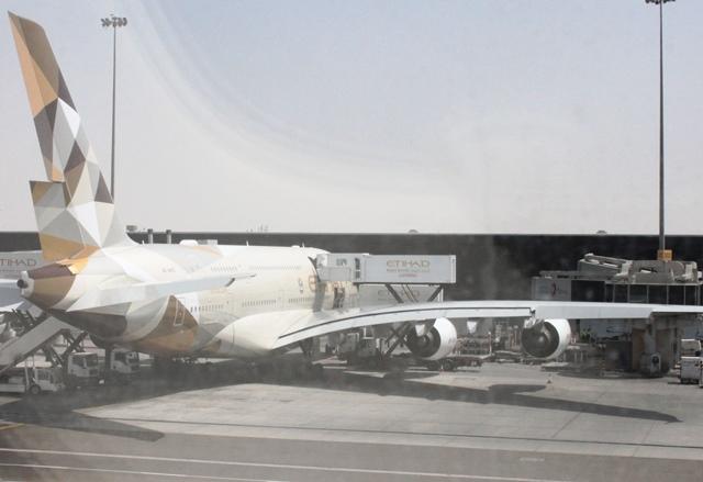 エティハドA380機